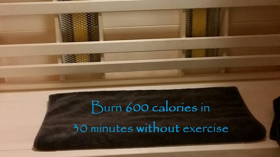 Sauna with calories