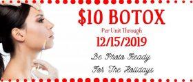 $10 Botox/unit!