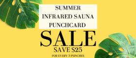 Sauna Punch Card Sale!